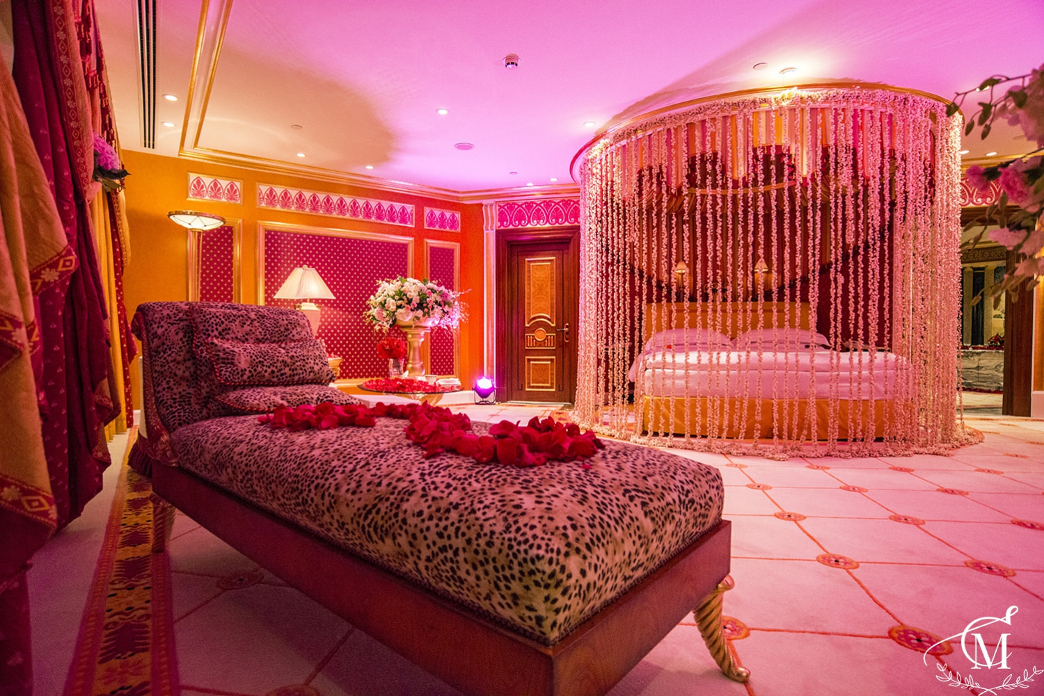 Royal Suite Room In Burj Al Arab Was Decorated With Light Amazing Flowers  And Of Course A Lot Of Gifts.