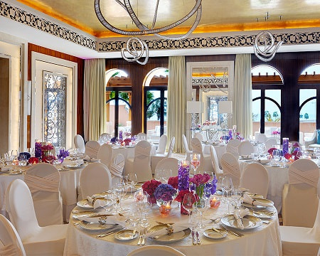 Selection of venue for wedding dinner